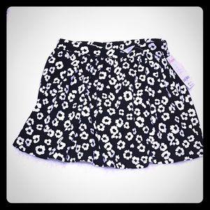 Gymboree Other - Size 7 Leopard Print Skirt Black/White