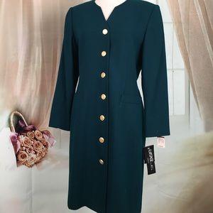 Kasper Dresses & Skirts - 🆕 Kasper 100% Wool Forest Green Dress