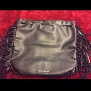 Victoria's Secret Handbags - Victoria Secret faux black leather backpack