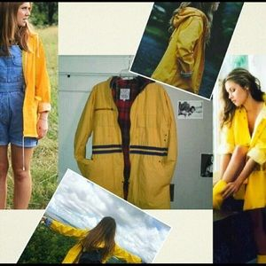 JGoods Jackets & Blazers - Vintage yellow rain jacket