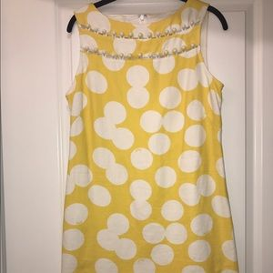 Lilly Pulitzer Yellow and White Polka Dot Dress