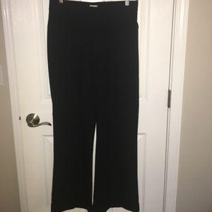 duo maternity Pants - Duo Maternity black cuffed dress pant, medium