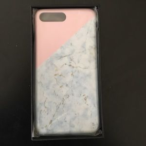Gold marble phone case for iPhone 7+