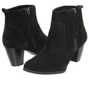 Sam & Libby Shoes - Sam & Libby Kiyana black suede ankle booties