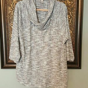 absolutely famous Tops - Absolutely Famous 2X mutli stripe 3/4 blouse