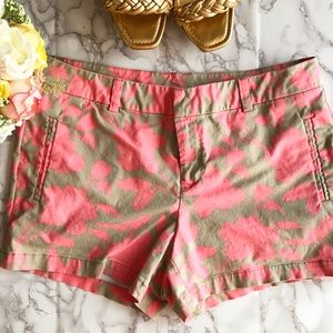 jcpenney Pants - Floral Tan and Pink summer shorts