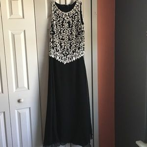 J Kara Dresses & Skirts - J Kara Beaded Ball Gown Beaded Dress-Size 10