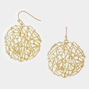 Farah Jewelry Jewelry - ⚡️Flash Sale⚡️Tangled Metal Wire Earrings