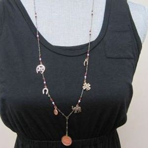 Jewelry - Lucky Penny &Charms Long Necklace, NWT