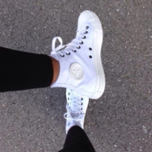 Converse White Womens Monochrome Shoes
