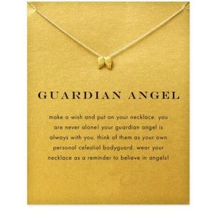 Jewelry - 😇 Guardian Angel dainty pendant necklace gold
