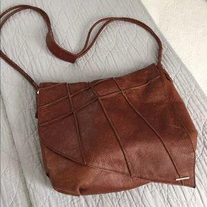 Nixon Handbags - Distressed cognac leather purse