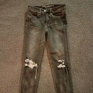 American Eagle Outfitters Denim - American Eagle Gray Hi-Rise Jegging Crop Size 0R