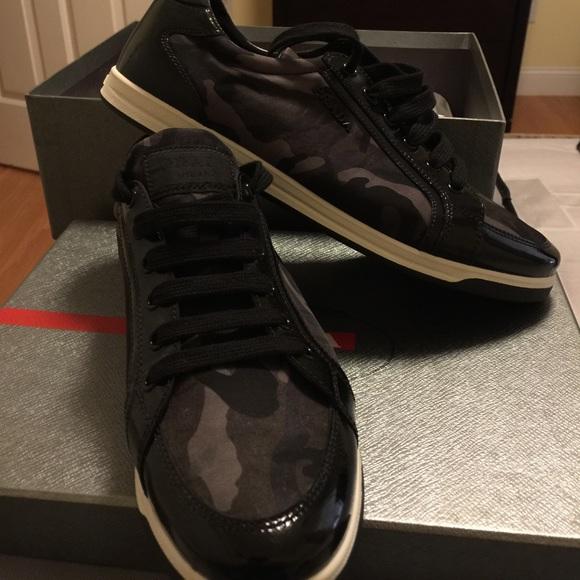 1a076c090355 Prada Shoes | Sale Authentic Sneakers Black Camo 75 | Poshmark