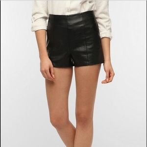 Sparkle & Fade Pants - Sparkle and Fade Faux Leather Shorts