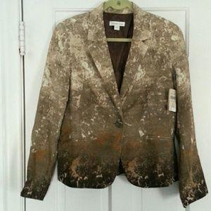 Coldwater Creek Jackets & Blazers - Coldwater Creek Hombre Printed Blazer NWT