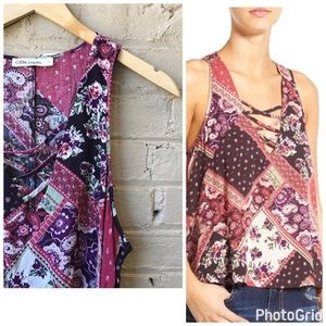 Tops - Size L patchwork swing top