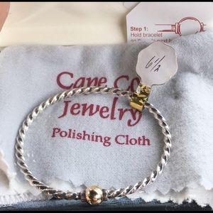"Cape Cod Jewelry - Authentic Cape Cod 14k 925 twist bracelet 6.5"""