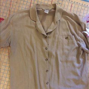 Silk Exchange Plus nubby silk blouse size 16