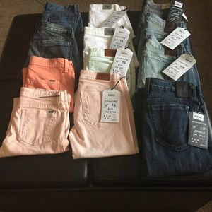 Sinclair Skinny, Distressed and Fidelity Jeans