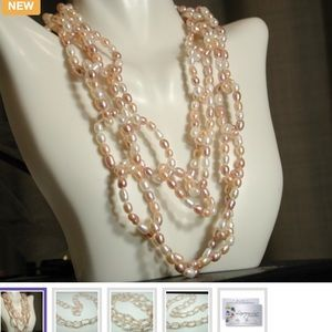 """Lucien Piccard Jewelry - Freshwater Pearls 34"""" Lucien Piccard Necklace"""