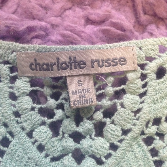 Charlotte Russe Tops - Lacy top