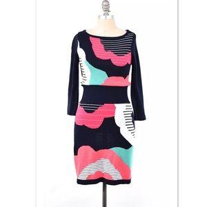 Nanette Lepore Dresses & Skirts - Nanette Lepore intarsia knit sweater dress