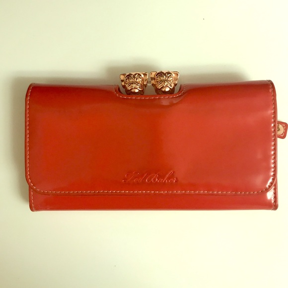 a8a80c59e Ted Baker Bull Dog Clasp Wallet in Fire Engine Red.  M 58e81edaf0137d647c00e512