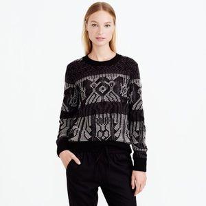 J. Crew Sweaters - J. Crew Mixed Stitch Wool Blanket Sweater