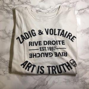 Zadig & Voltaire Tops - Zadig & Voltaire Graphic Walk Oversize Bis Tee XS
