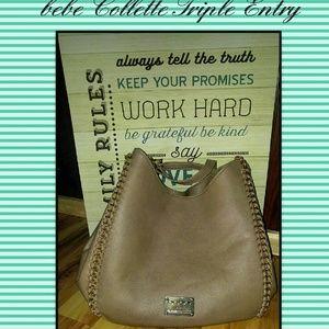 bebe Handbags - bebe Collette Triple Entry Handbag