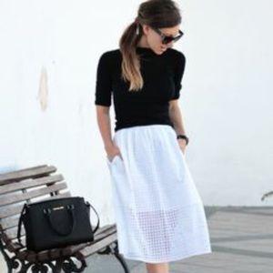 MNG black flowy square skirt