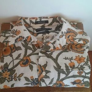 Daniel Cremieux Other - Daniel Cremieux Linen Blend Print Button Down NWOT