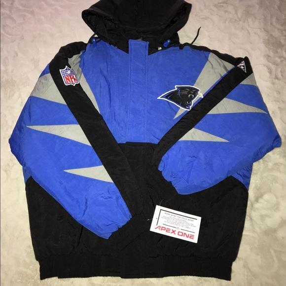 in stock c4fa2 8e550 VTG Carolina panthers apex shark tooth jacket