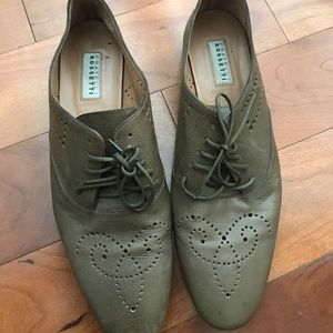 Fratelli Rossetti Shoes - Olive Fratelli Rossetti Laced Leather Shoes