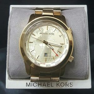 Michael Kors  Other - Friday sale,NWOT Michael Kors Gold WORLD watch
