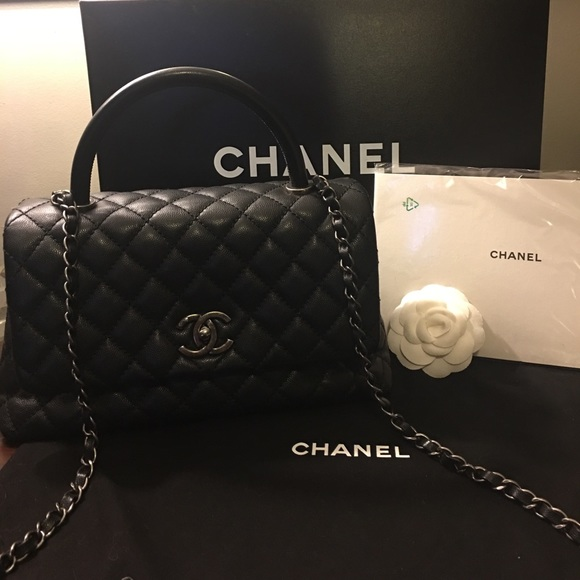 919f7612c23e CHANEL Handbags - Chanel Coco Handle Caviar with Ruthenium Hardware