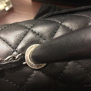 0ae39520f8aa CHANEL Bags - Chanel Coco Handle Caviar with Ruthenium Hardware