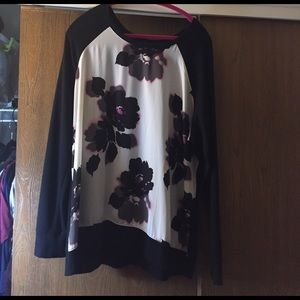 cute flowery long sleeve shirt 18/20 Lane  Bryant