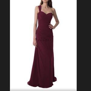 Bill Levkoff Dresses & Skirts - Bill Levkoff Wine one shoulder Corset Dress-#981