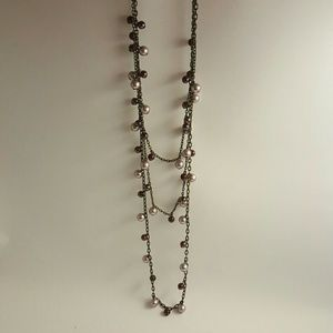 Jewelry - Purple and amethyst pearl layered necklace