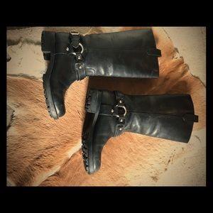 Black (RL) Motorcycle boots