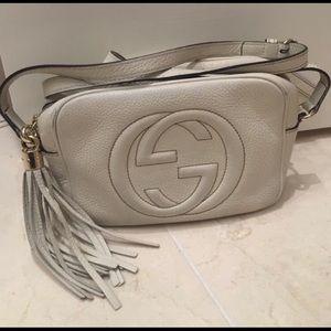 Gucci Handbags - White Gucci Soho Leather Disco Bag