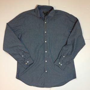 Claiborne Other - Claiborne Chambray Stripe Button Down Shirt