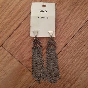 Mango Statement Chain Earrings