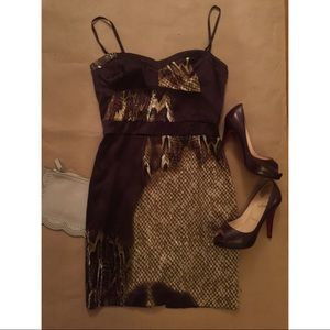 Marciano Dresses & Skirts - MARCIANO / Silk snake skin print dress