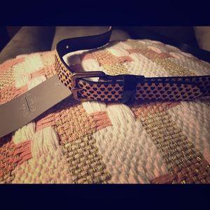 Nwt anthropologie heart print hair leather belt
