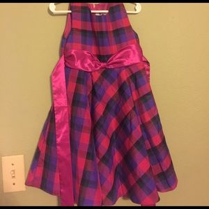 Rare Editions Other - Little girls pink and purple plaid dress