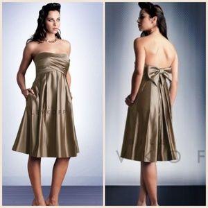Bill Levkoff Dresses & Skirts - NWT Bill Levkoff Satin Strapless Dress w/ pockets!