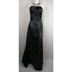 Bill Levkoff Dresses & Skirts - Black Satin Mermaid Strapless Gown Bill Levkoff